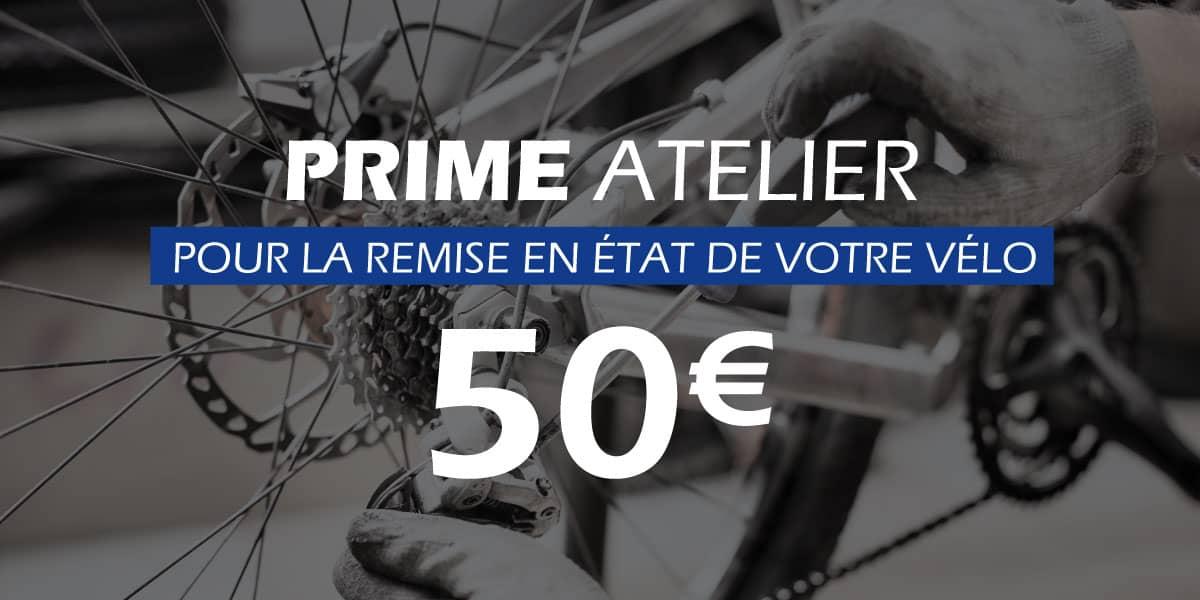 Prime de 50€ pour la remise en état de votre vélo !