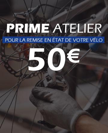 prime de 50€ entretien réparation vélo