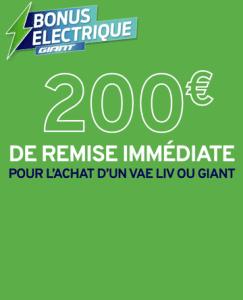 Bonus électrique Giant 2020 Tours Blois